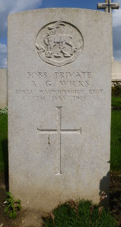 Albert Wicks at Prowse Point Military Cemetery