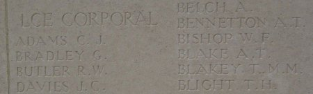 Alfred Blake on the Vis-en-Artois Memorial