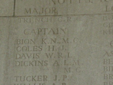Reginald Chenevix Trench on the Arras Memorial