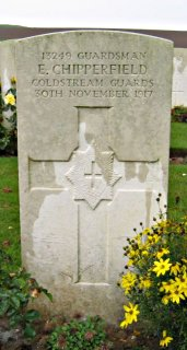 Edward Chipperfield at Rocquigny-Equancourt Road British Cemetery, Manancourt, Somme