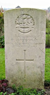 Edwin Holloway at Tyne Cot Cemetery, Ypres