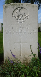Frederick Wicks at Prowse Point Military Cemetery
