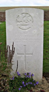 Francis Goodall at Ovillers Military Cemetery