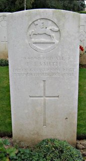 Frederick Smith at Bucquoy Road Cemetery, Ficheux, Arras