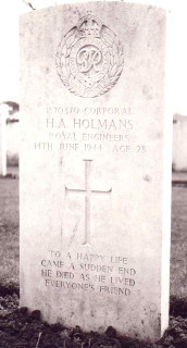 Horace Holmans at Bayeux War Cemetery