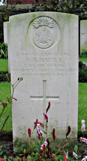 Sydney Davies at Menin Road South Military Cemetery
