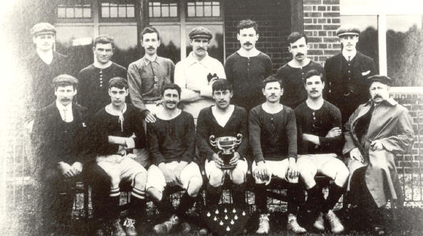 Hurst Football Club, 1908-9. Winners of Wargrave and District League.