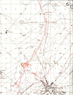 Trench map showing Loos in September 1915, immediately prior to the battle