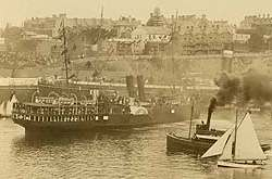 The S.S. Maplemore on the eve of departure from Australia