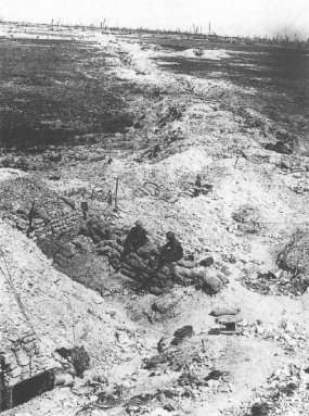 Old German trenches at Ovillers