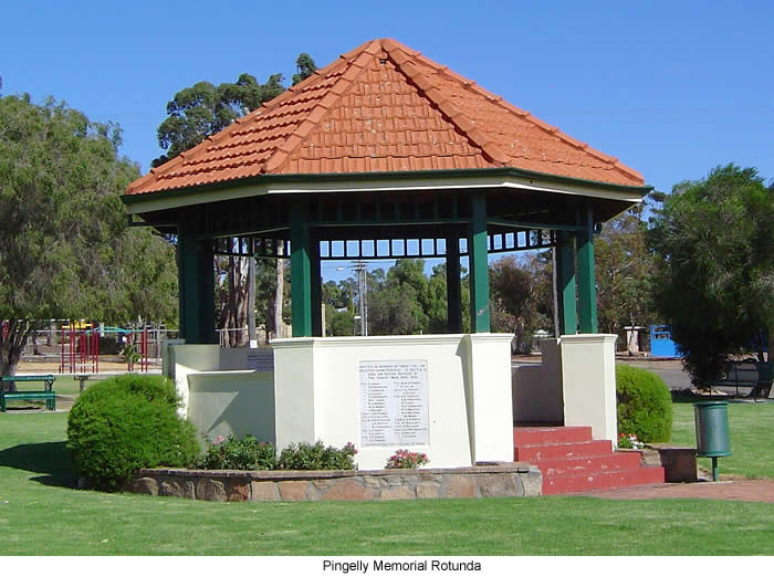 Joseph Goodchild is also commemorated on the Pingelly Memorial Rotunda, Western Australia